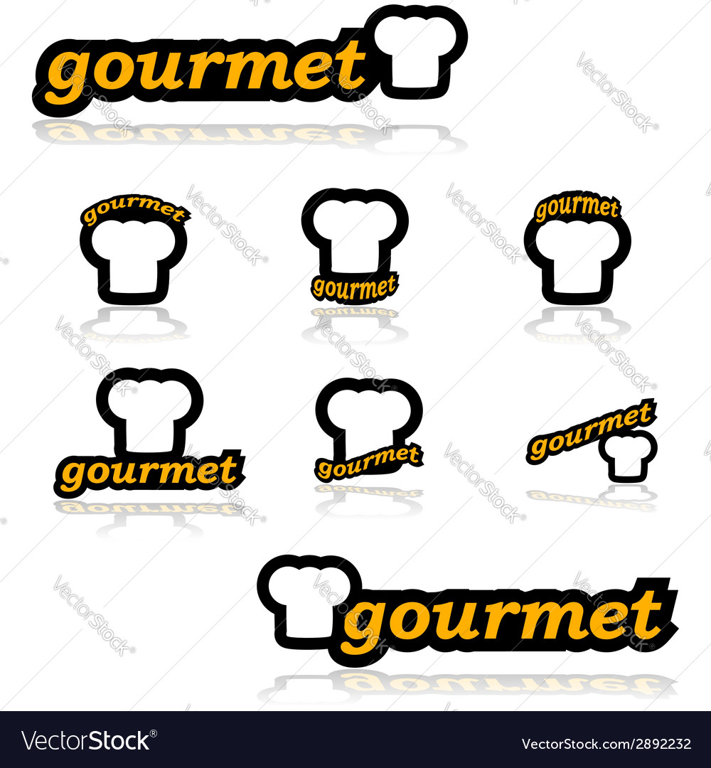Gourmet icons vector | Price: 1 Credit (USD $1)