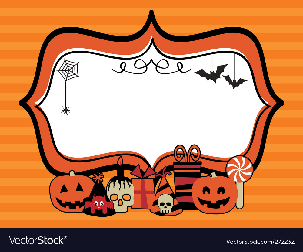 Halloween party frame vector | Price: 1 Credit (USD $1)