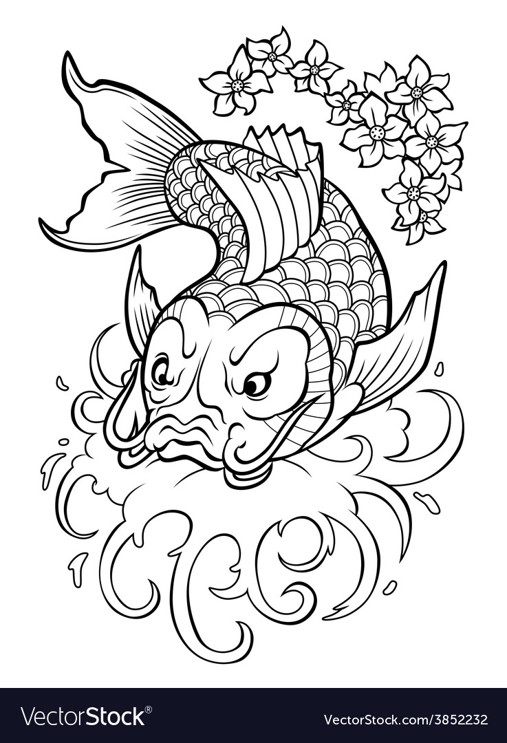 Koi carp vector | Price: 1 Credit (USD $1)