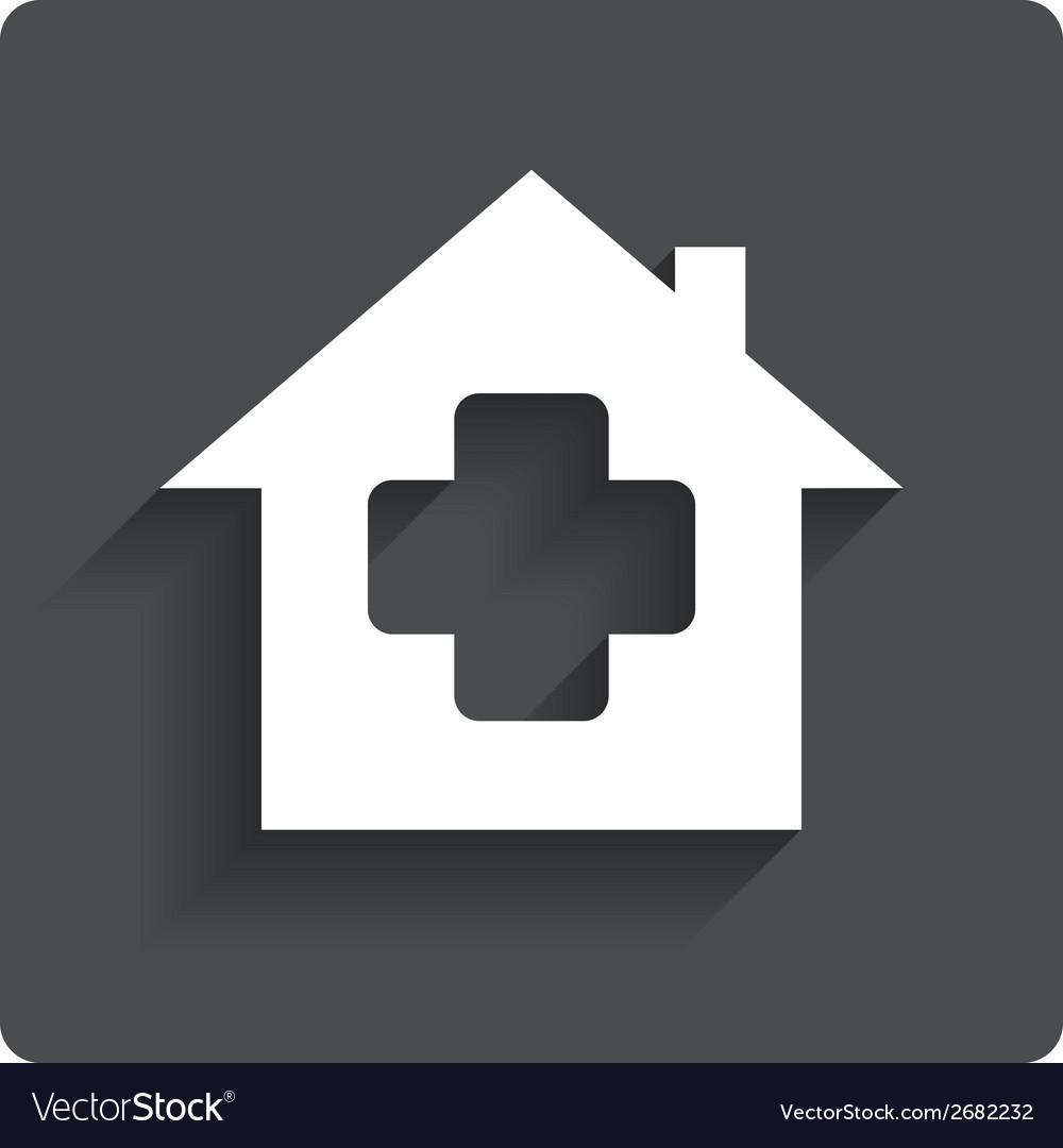 Medical hospital sign icon home medicine symbol vector | Price: 1 Credit (USD $1)