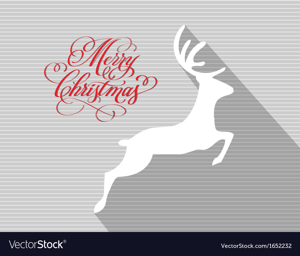 Merry christmas and happy new year reindeer vector | Price: 1 Credit (USD $1)