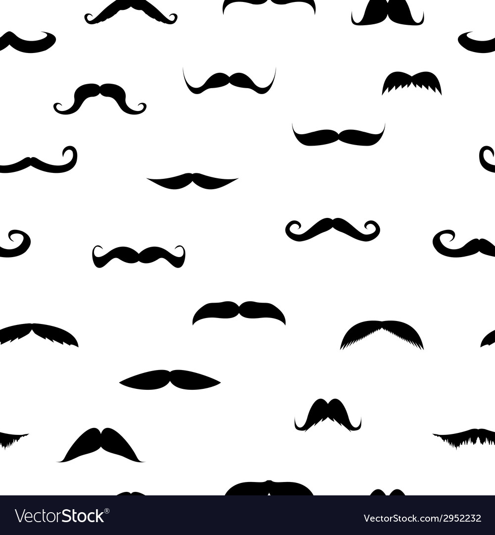 Mustache in a set vector | Price: 1 Credit (USD $1)