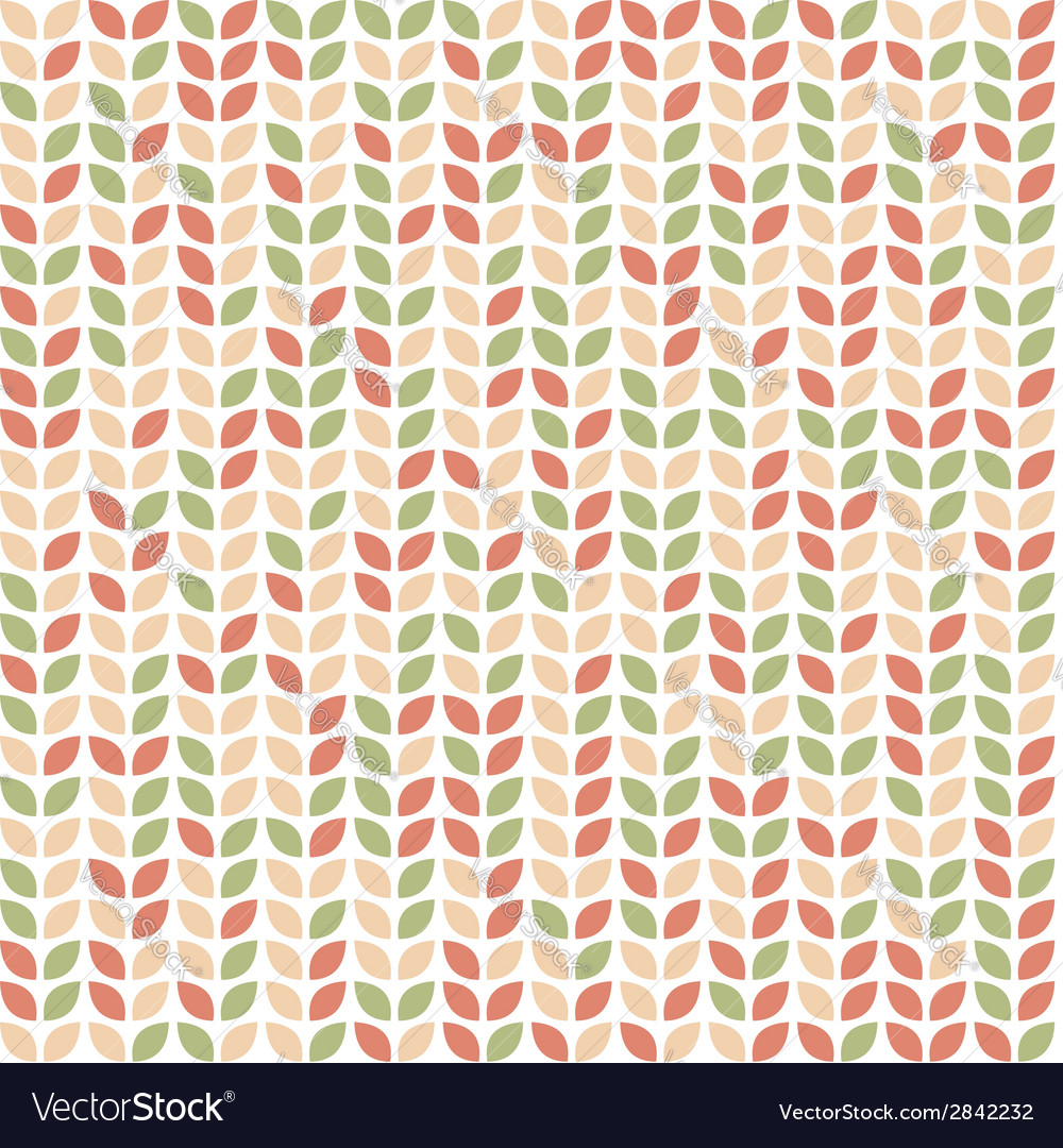 Seamless pattern with colorful leaves vector | Price: 1 Credit (USD $1)