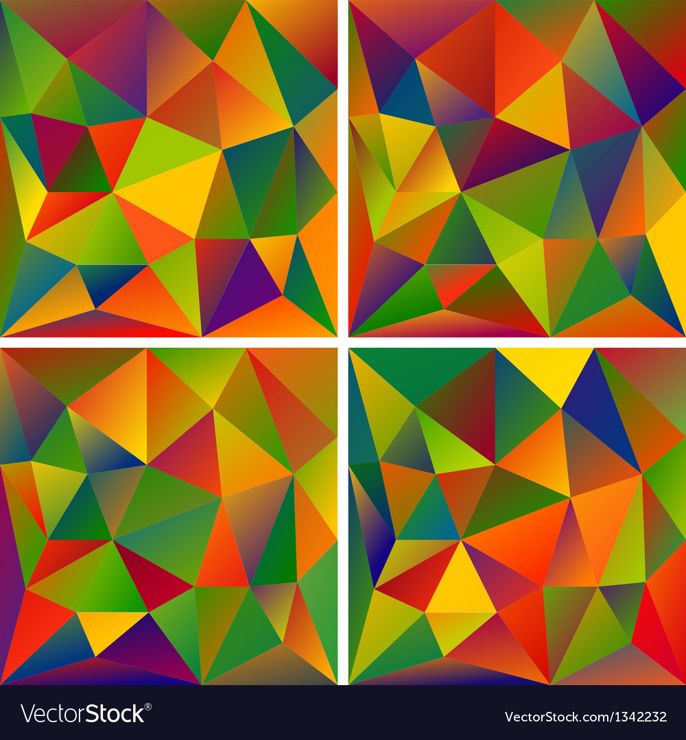 Set of abstract triangle backgrounds vector | Price: 1 Credit (USD $1)