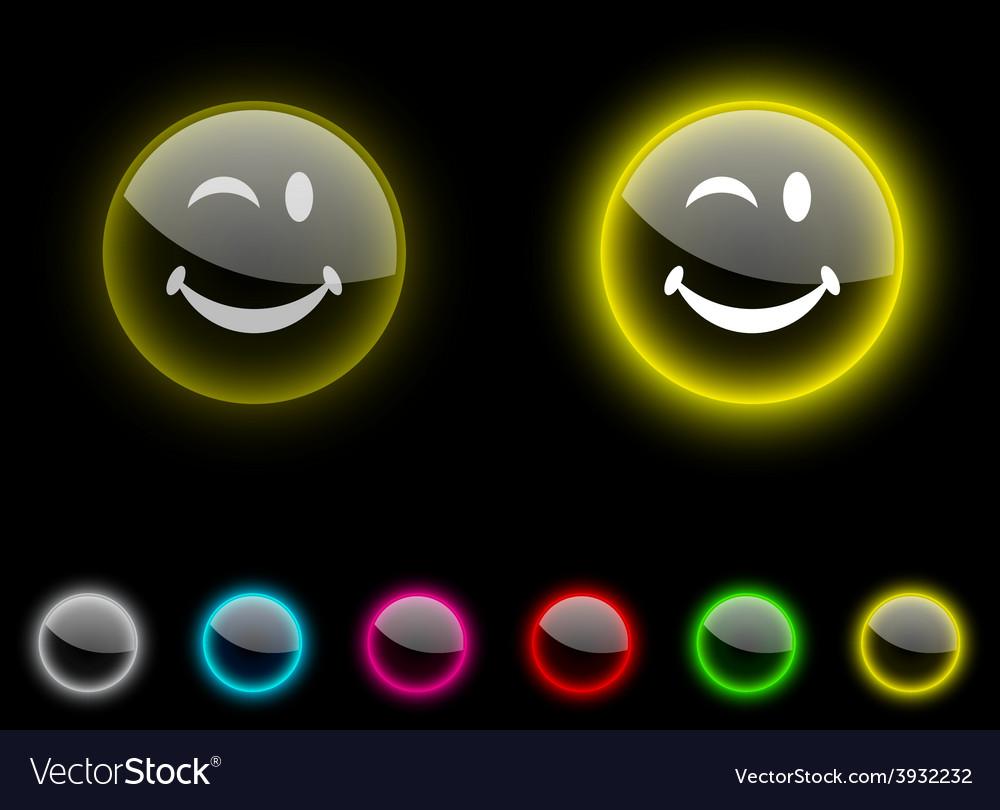 Smiley button vector | Price: 1 Credit (USD $1)