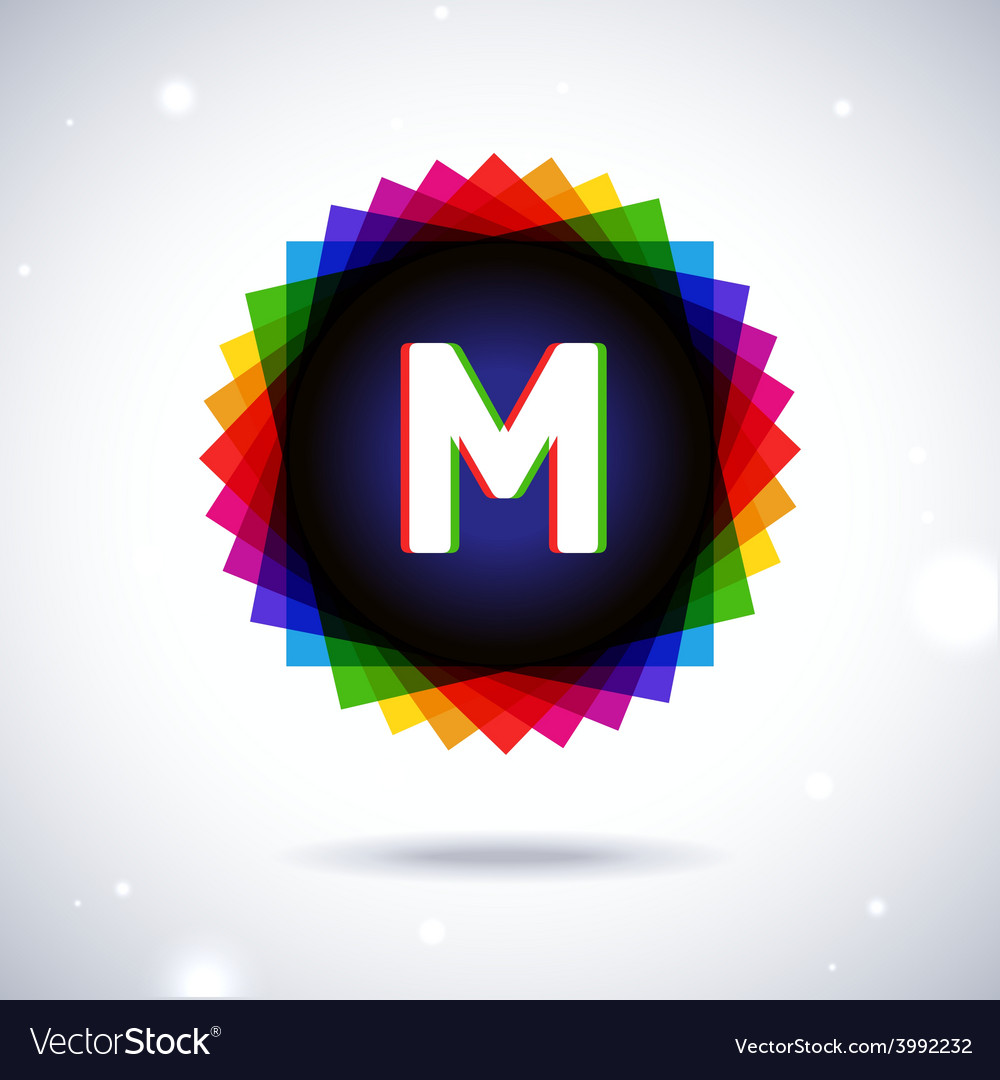 Spectrum logo icon letter m vector | Price: 1 Credit (USD $1)