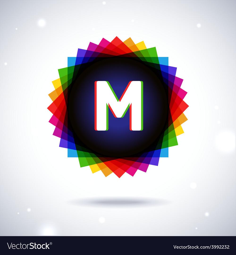 Spectrum logo icon letter m vector | Price: 1 Credit (USD $1)