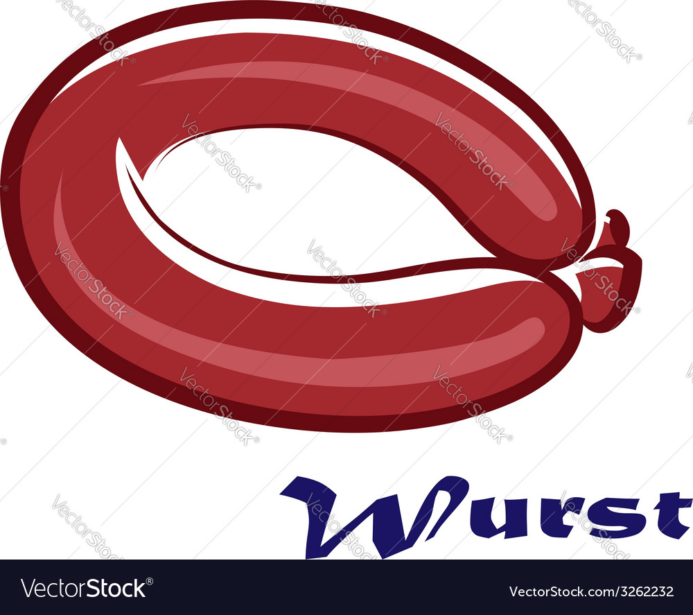 Wurst or sausage icon vector | Price: 1 Credit (USD $1)