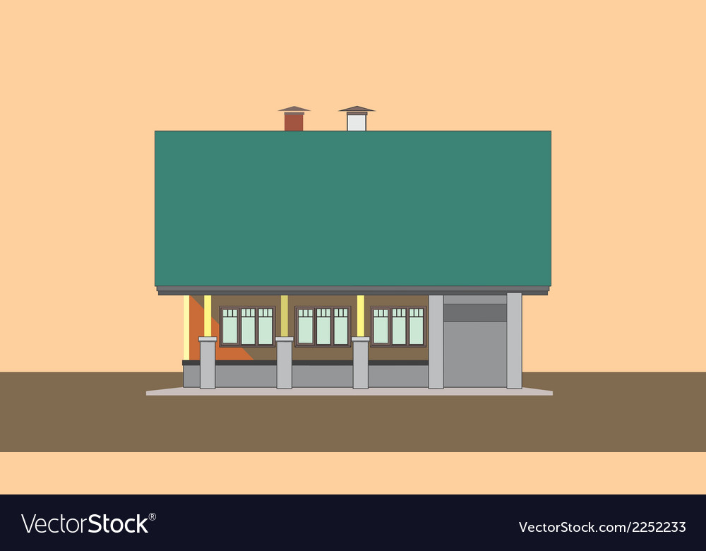 05 colored house v vector | Price: 1 Credit (USD $1)