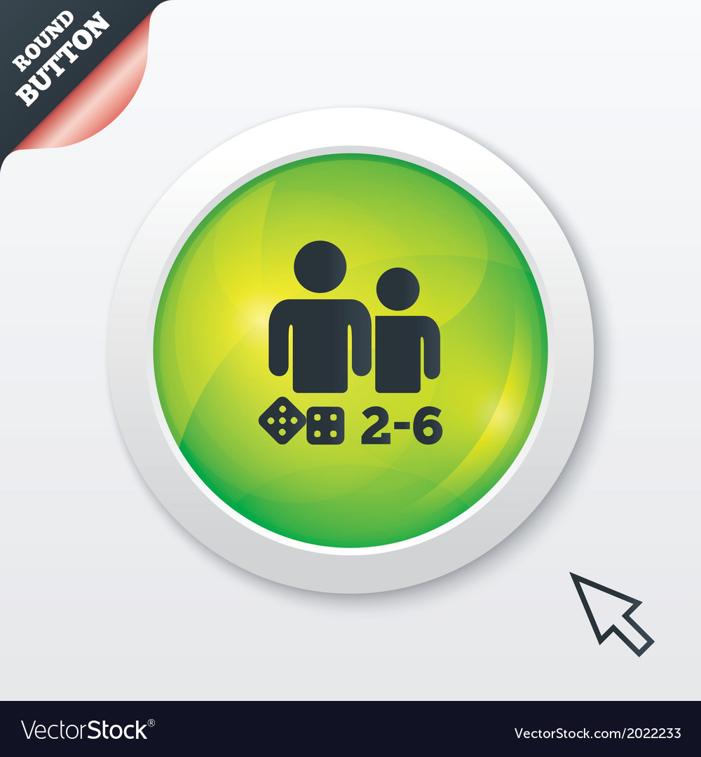 Board games sign icon 2-6 players symbol vector   Price: 1 Credit (USD $1)