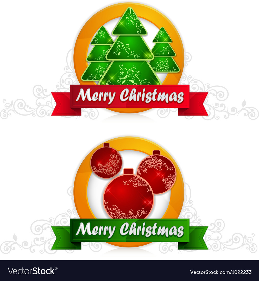 Christmas label vector | Price: 1 Credit (USD $1)