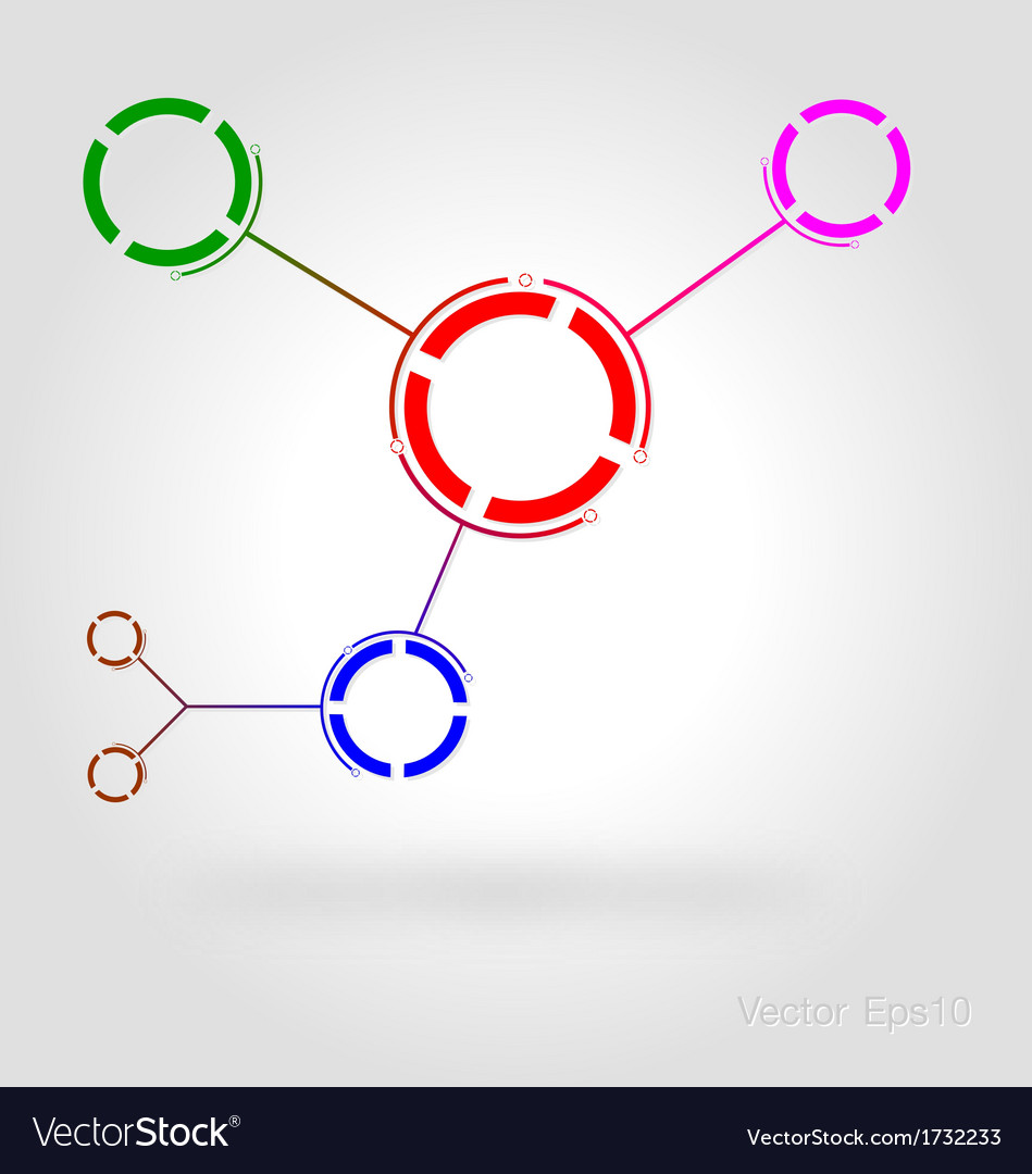 Connected by a colored cell graphic vector | Price: 1 Credit (USD $1)