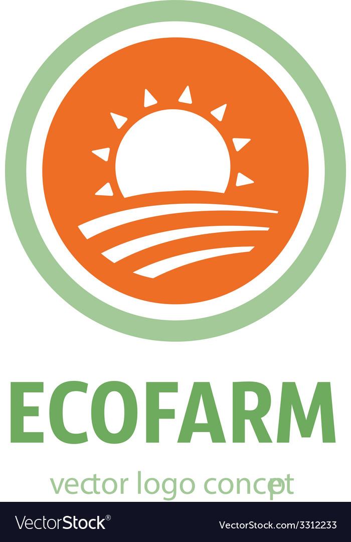 Eco farm icon vector | Price: 1 Credit (USD $1)