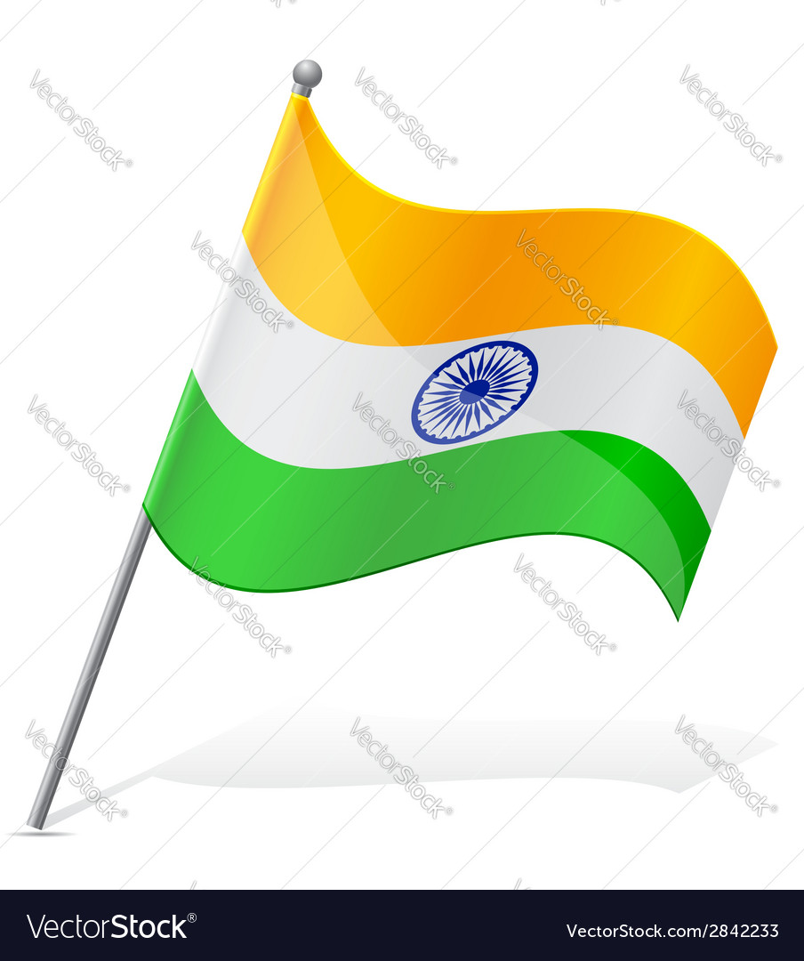 Flag of india vector | Price: 1 Credit (USD $1)
