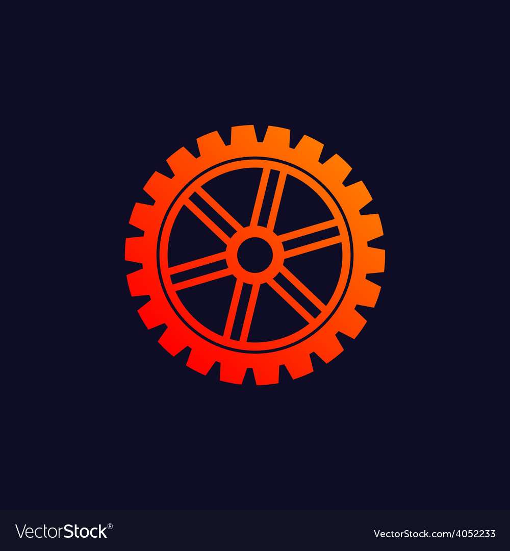 Gear background icon vector | Price: 1 Credit (USD $1)