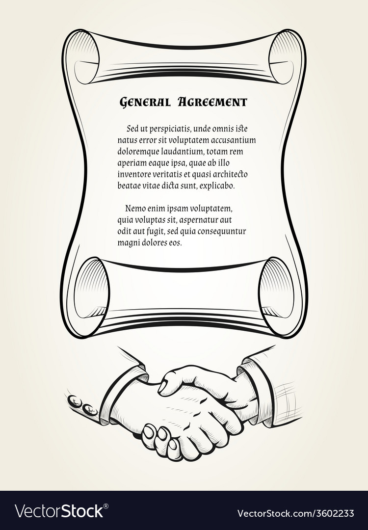 General agreement vector | Price: 1 Credit (USD $1)