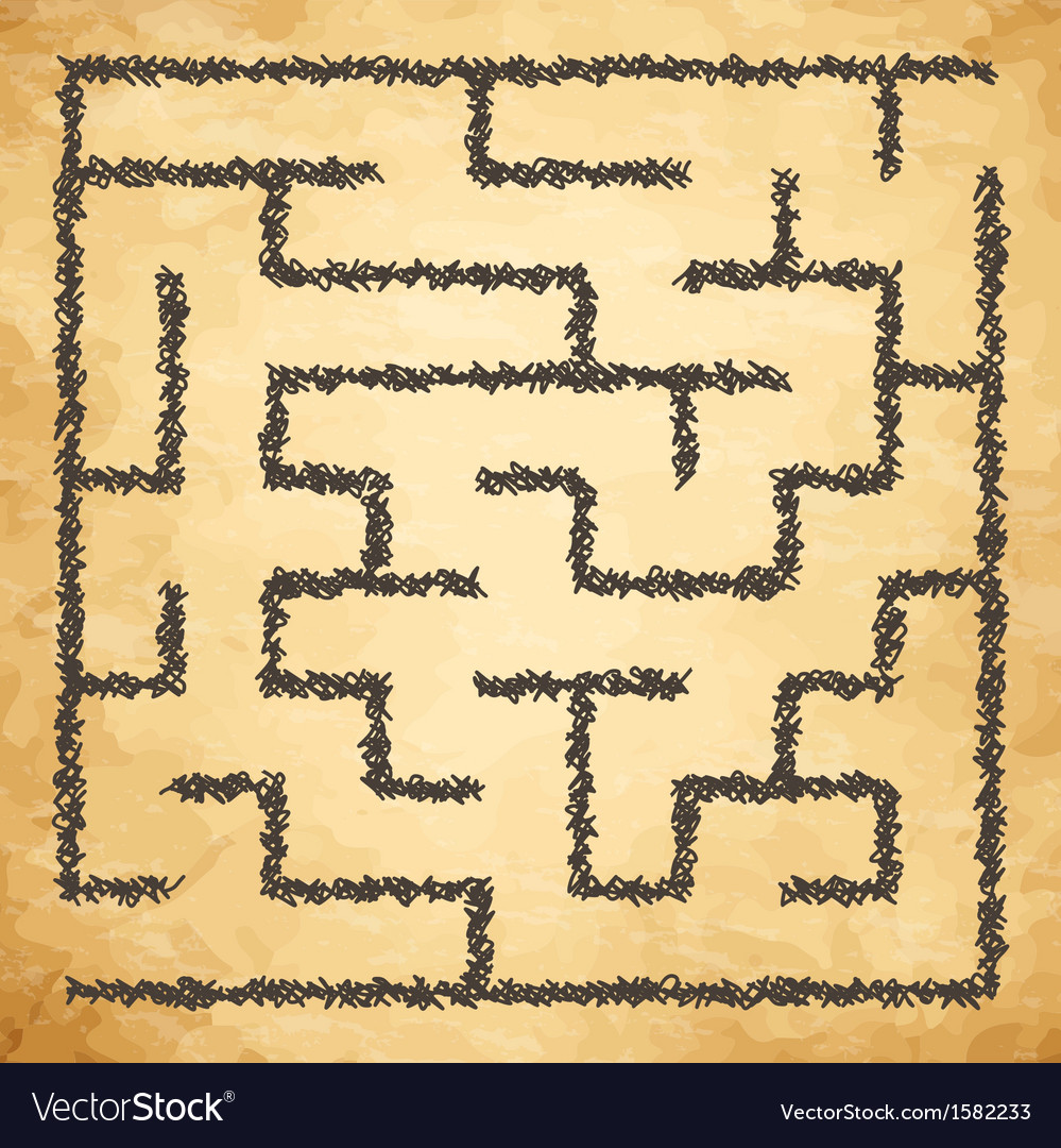 Golden maze vector | Price: 1 Credit (USD $1)