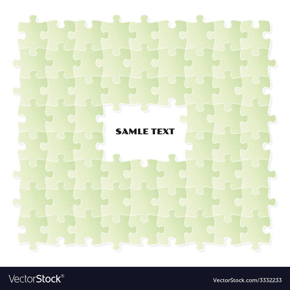 Green puzzle field vector | Price: 1 Credit (USD $1)