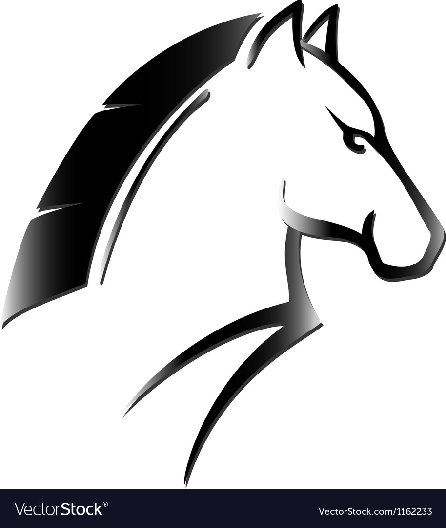 Horse head tattoo vector | Price: 1 Credit (USD $1)