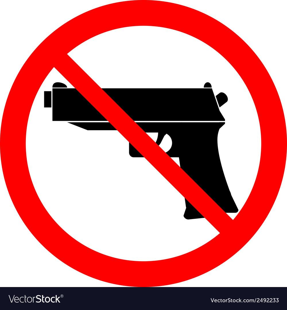 No gun sign vector | Price: 1 Credit (USD $1)