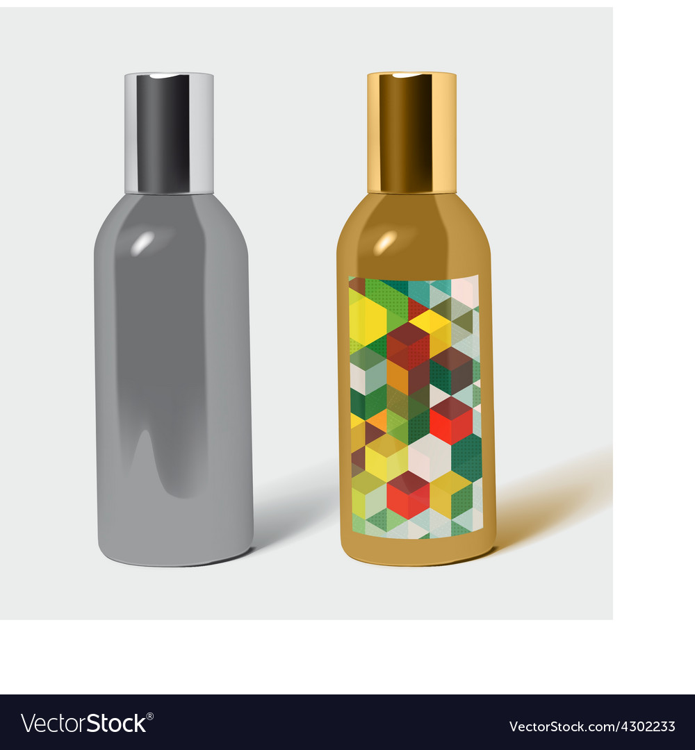 Perfume bottle package vector | Price: 1 Credit (USD $1)