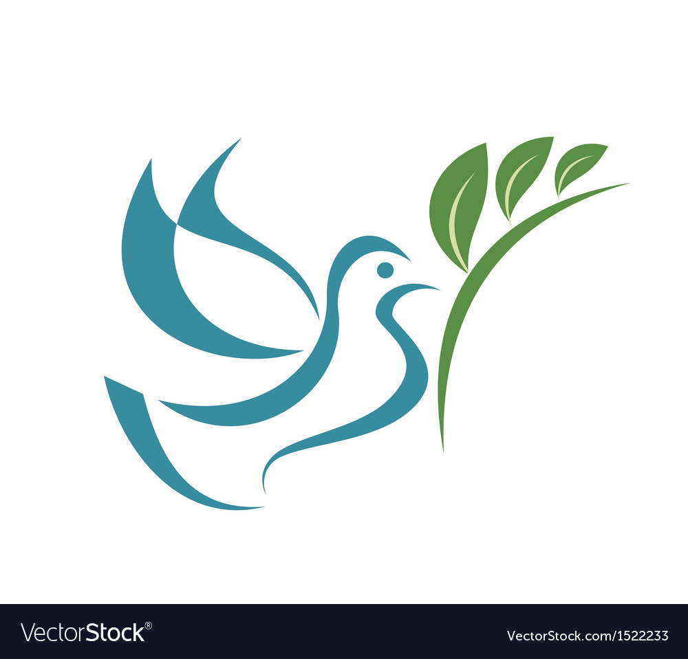 Pigeon of peace isolated symbol vector | Price: 1 Credit (USD $1)