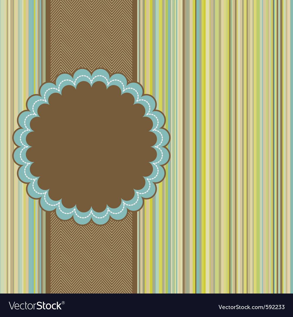 Retro card template vector | Price: 1 Credit (USD $1)