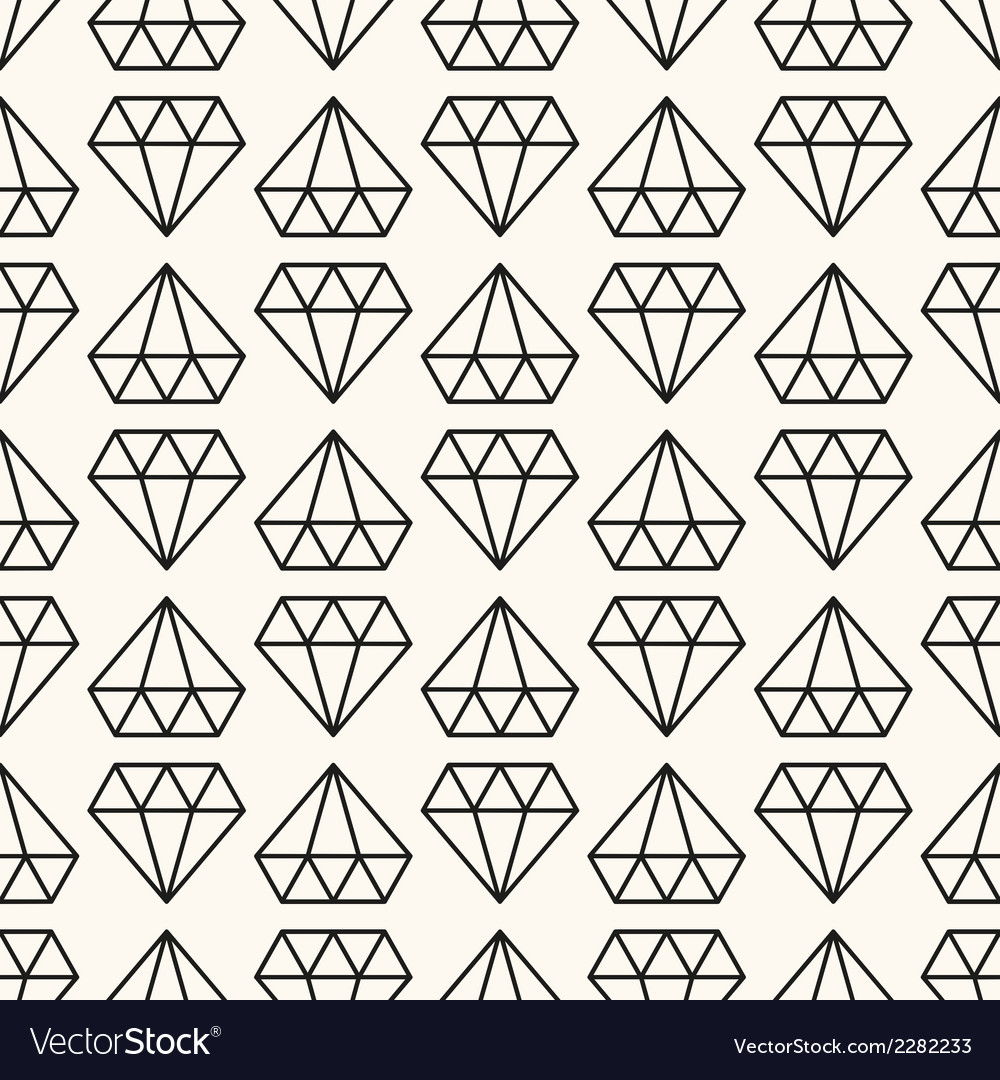 Seamless retro pattern with diamonds vector | Price: 1 Credit (USD $1)