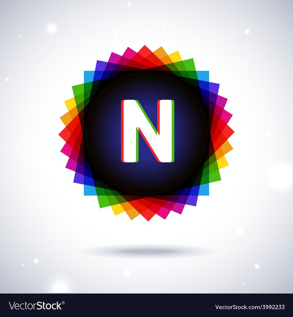 Spectrum logo icon letter n vector | Price: 1 Credit (USD $1)