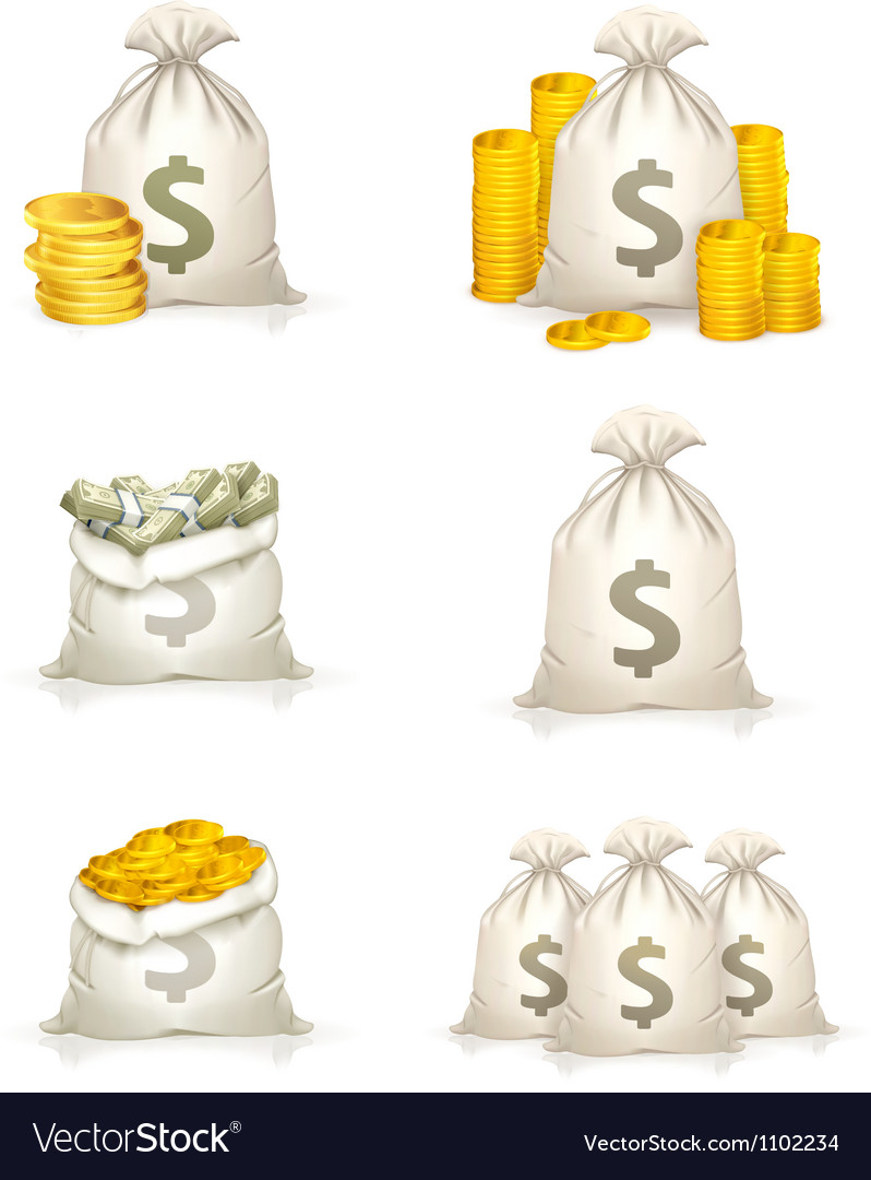Bags of money vector | Price: 1 Credit (USD $1)