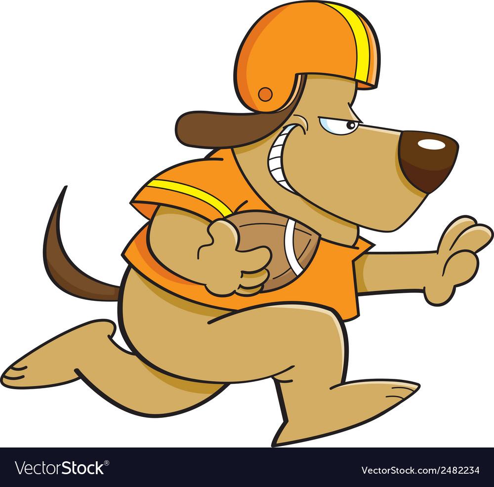 Cartoon football dog vector | Price: 1 Credit (USD $1)
