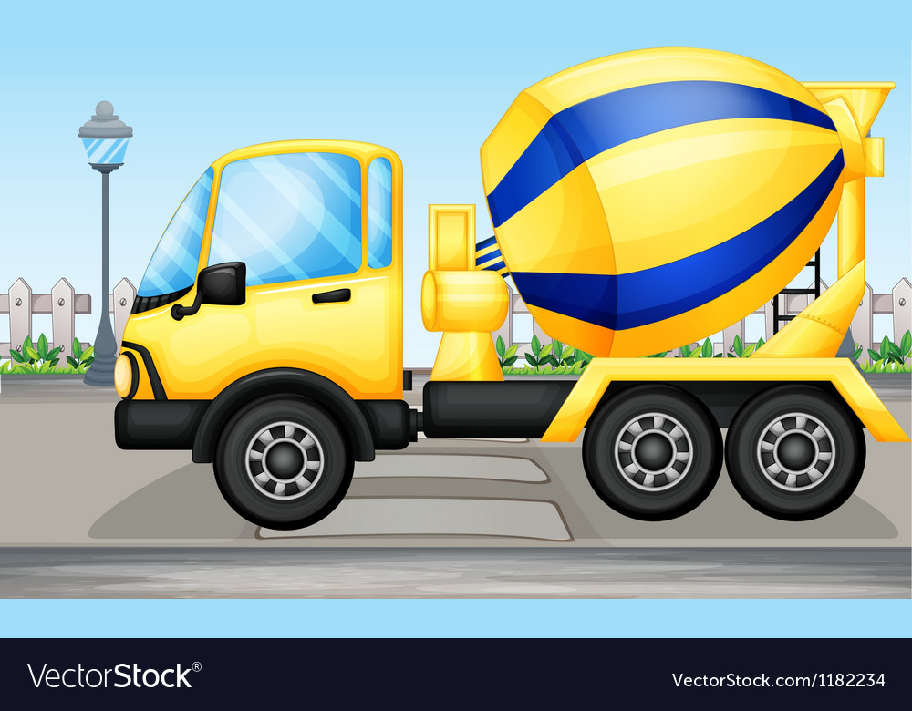 Cement truck vector | Price: 1 Credit (USD $1)
