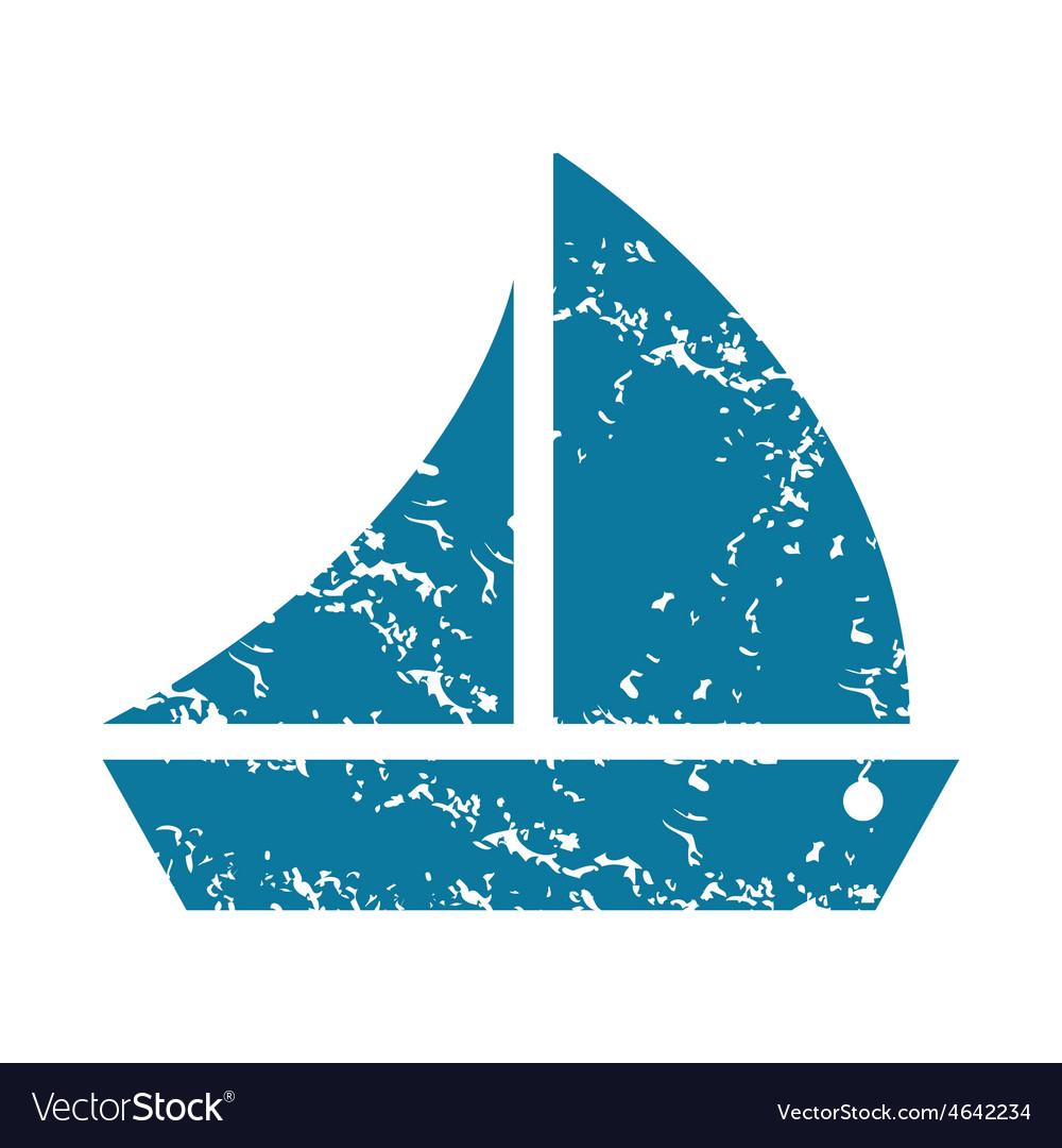 Grunge sailing ship icon vector   Price: 1 Credit (USD $1)