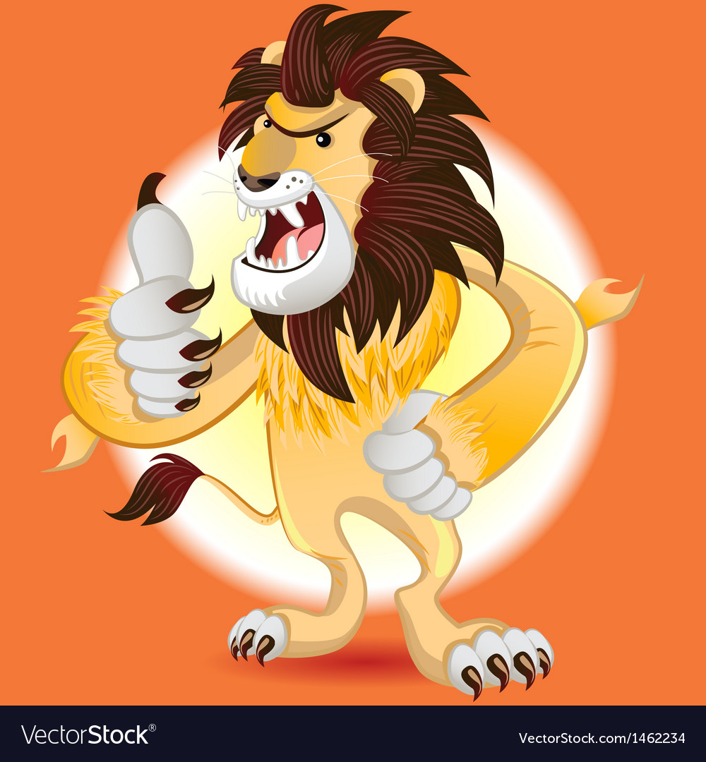 Lion king of beast mascot vector | Price: 3 Credit (USD $3)