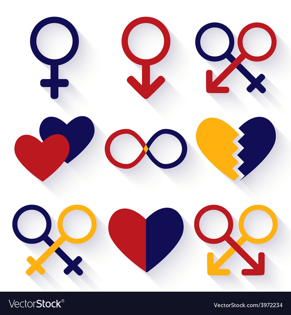 Male and female sex symbol vector   Price: 1 Credit (USD $1)