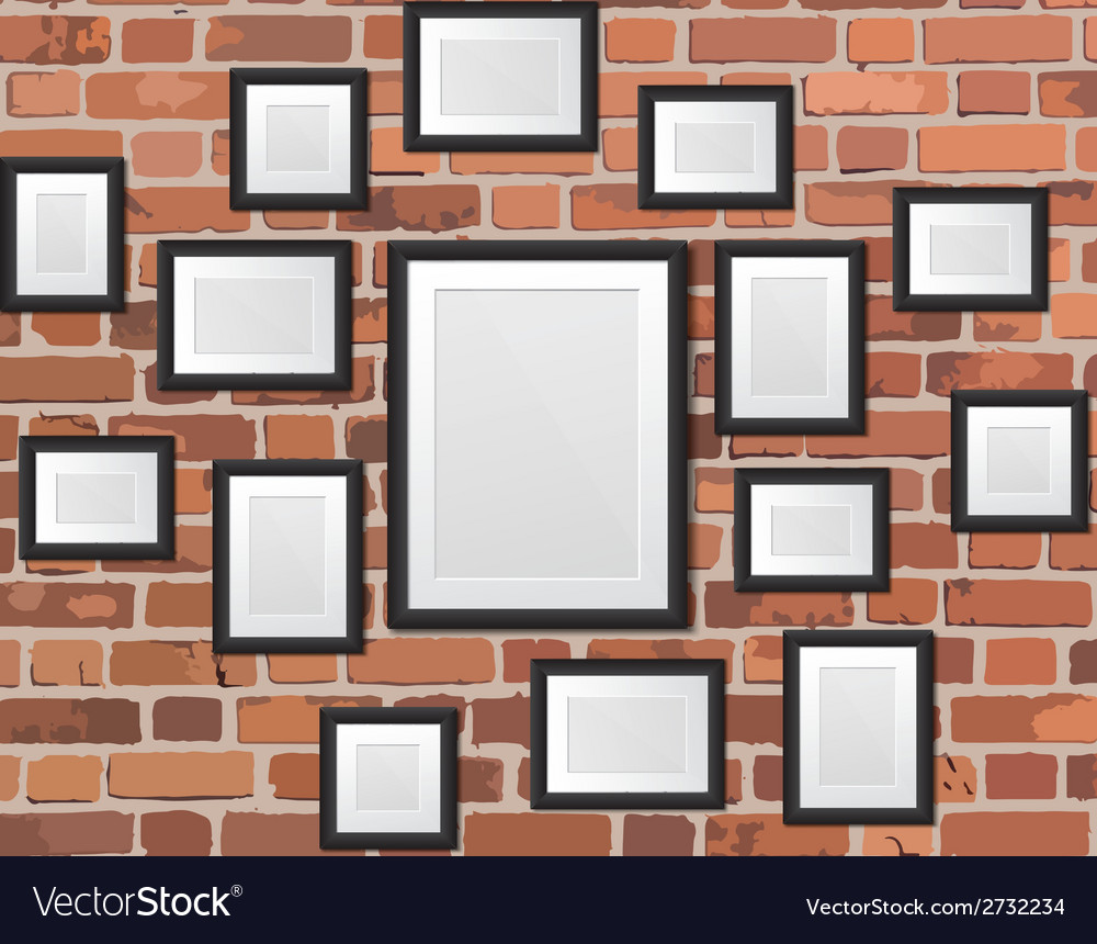 Picture frame on the wall vector | Price: 1 Credit (USD $1)