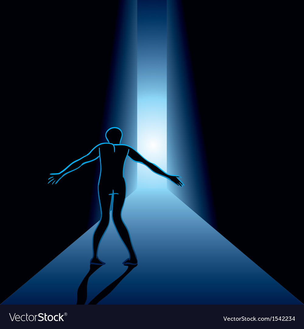 Scared man in the hallway vector | Price: 1 Credit (USD $1)