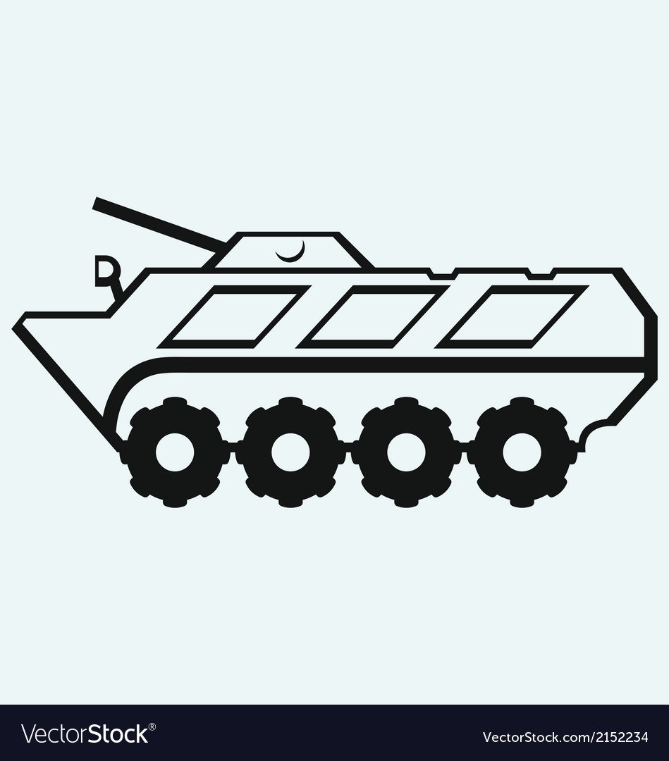 Wheeled armoured personnel carrier vector | Price: 1 Credit (USD $1)
