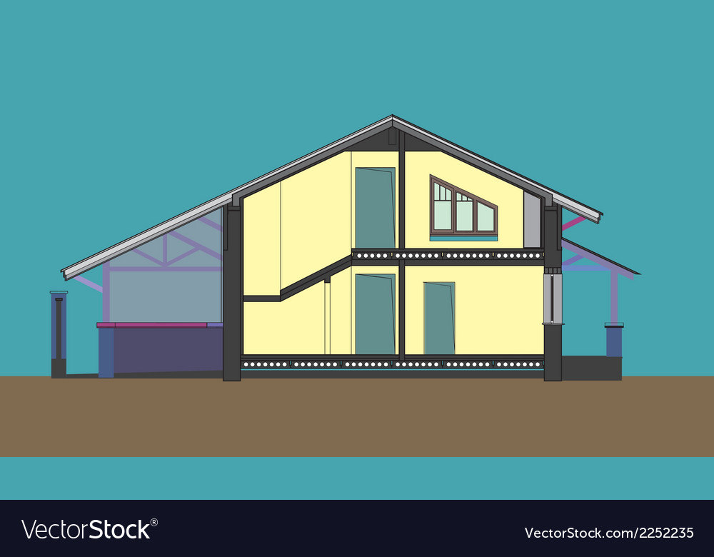 06 colored house v vector | Price: 1 Credit (USD $1)