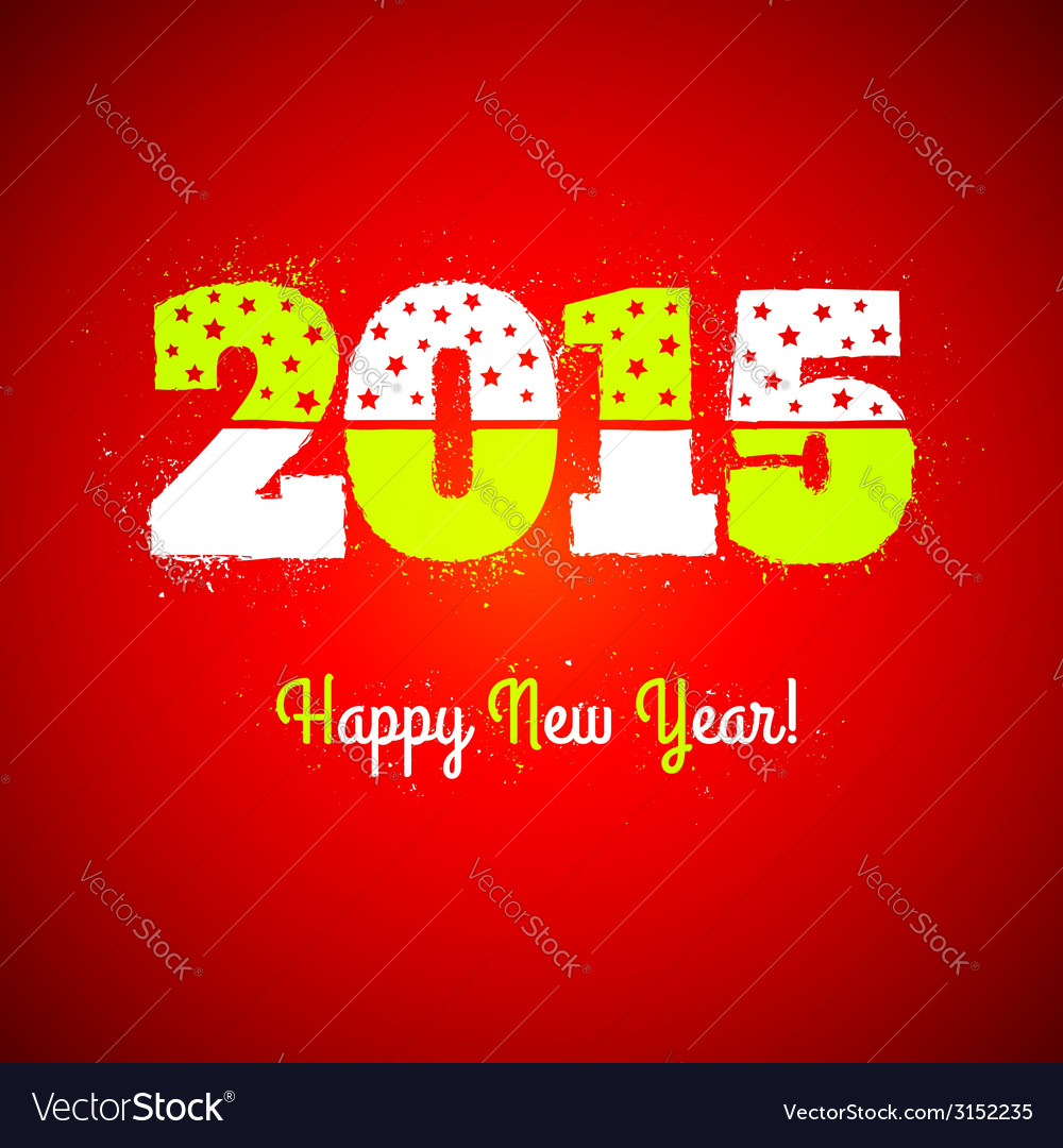 2015 on red background vector | Price: 1 Credit (USD $1)