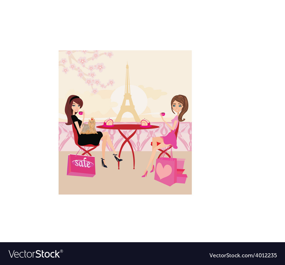 Cafe in paris vector | Price: 1 Credit (USD $1)