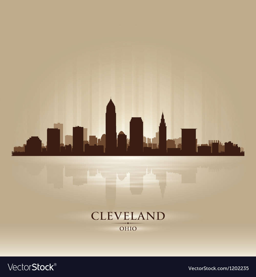 Cleveland ohio skyline city silhouette vector | Price: 1 Credit (USD $1)