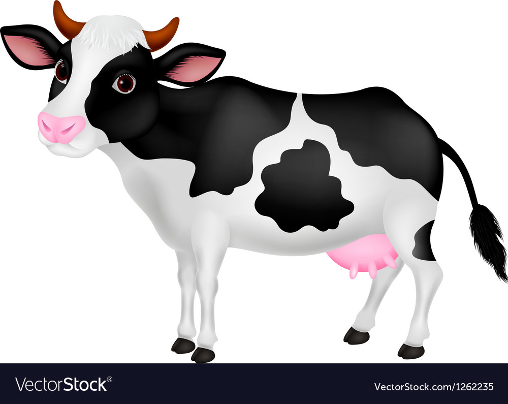 Cute cow cartoon vector | Price: 3 Credit (USD $3)