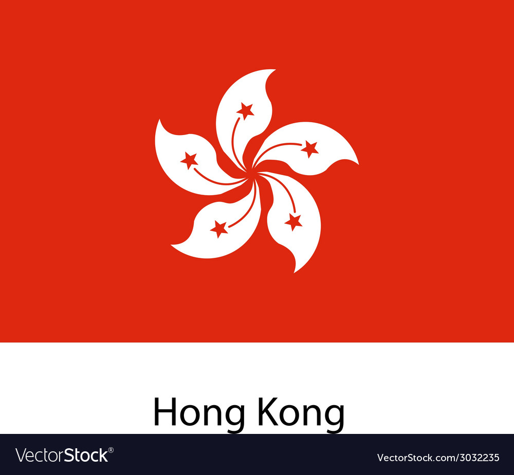 Flag of the country hong kong vector | Price: 1 Credit (USD $1)