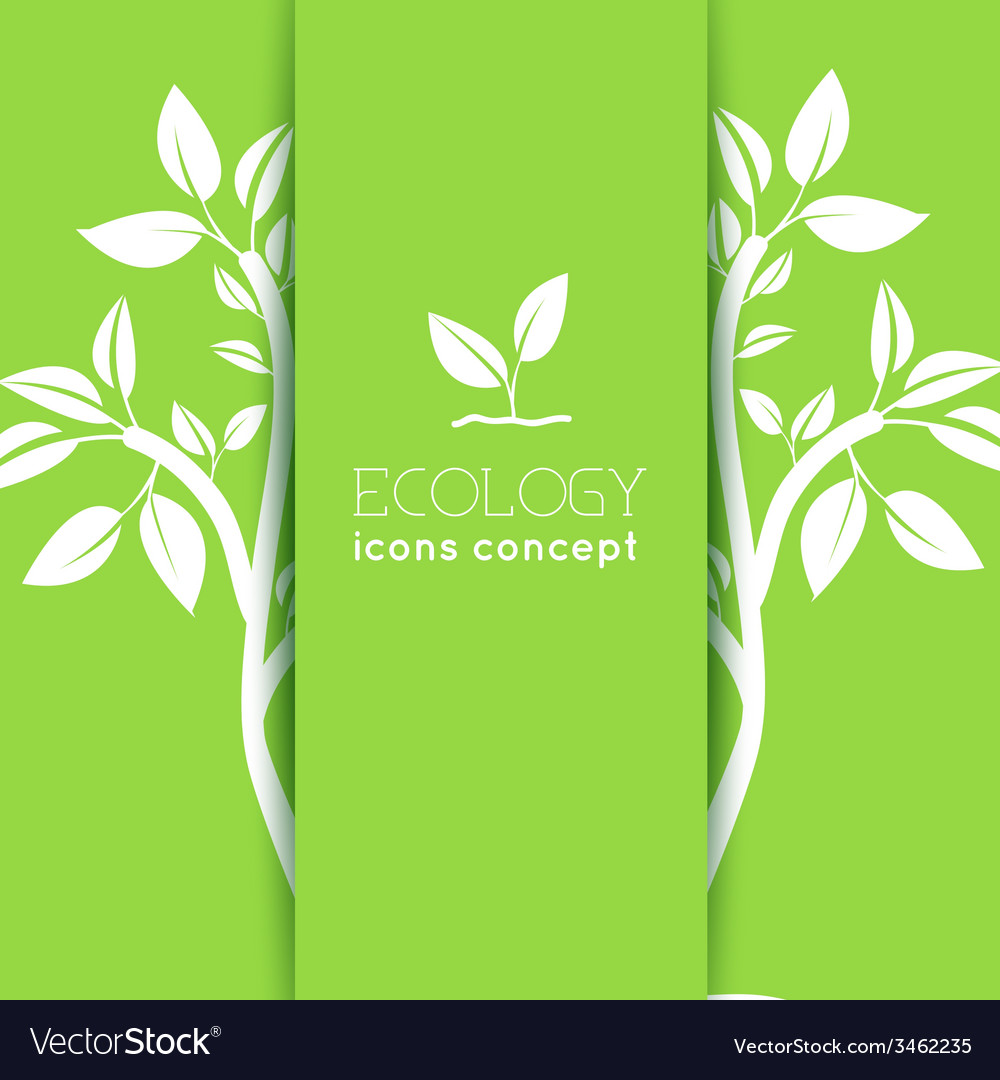 Flat design of ecology environment green clean vector | Price: 1 Credit (USD $1)