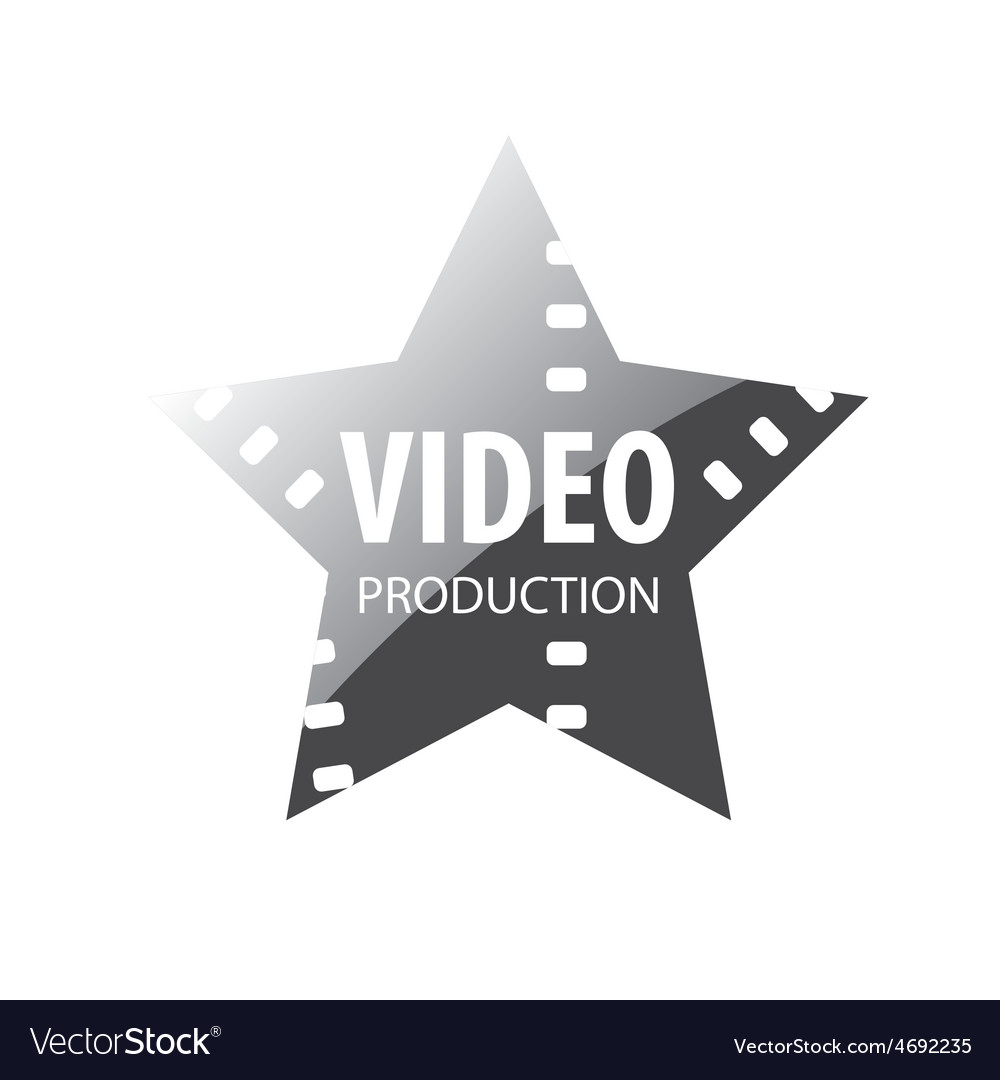 Logo video shooting star vector | Price: 1 Credit (USD $1)