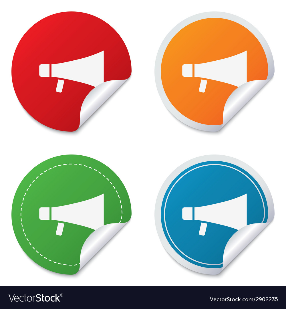 Megaphone soon icon loudspeaker symbol vector | Price: 1 Credit (USD $1)