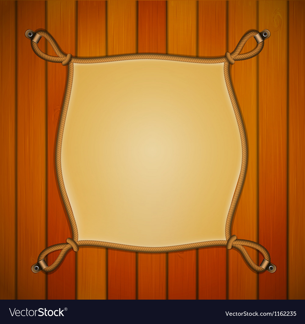Rope frame with parchment banner vector | Price: 1 Credit (USD $1)