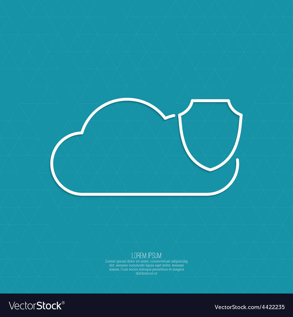 Secure cloud service vector | Price: 1 Credit (USD $1)