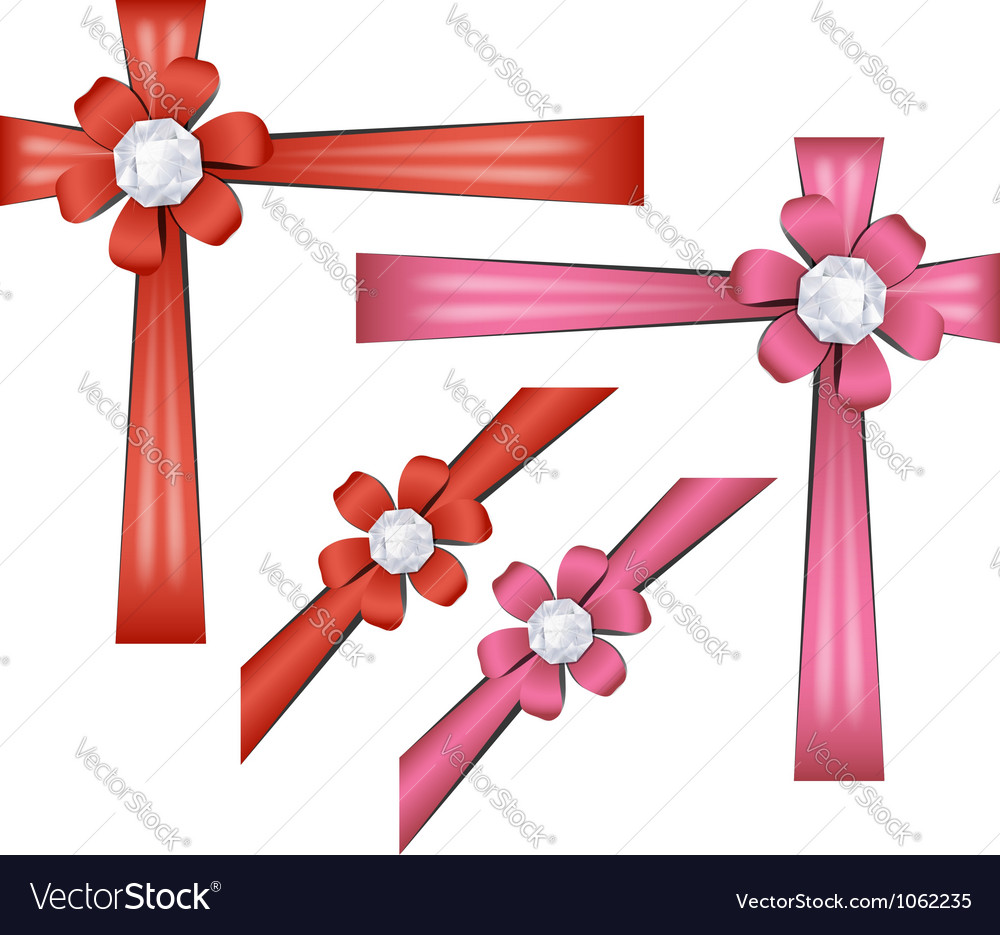 Set of gift ribbons vector | Price: 1 Credit (USD $1)